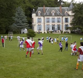 foot dans le parc
